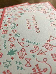 活版印刷クリスマスカード1