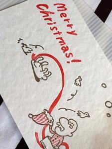 活版印刷クリスマスカード2